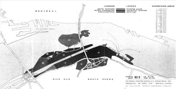 Site proposé Expo 67